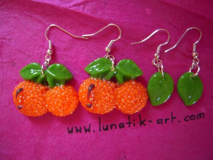 Lot de 2 paires de boucles d'oreilles de chez Lunatik'art