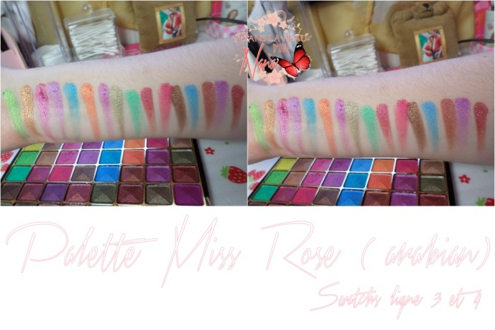 palette mis rose swatch 3 et 4